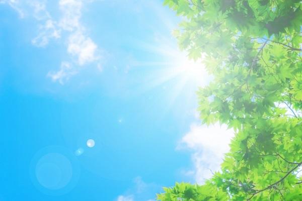 紫外線が最も強いのは5月。